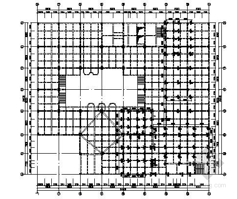 某钢混结构影院工程结构施工图(钢台阶)