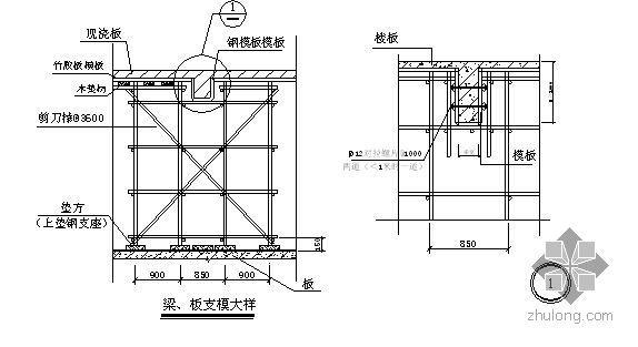 四川某住宅项目模板施工方案(胶合板)