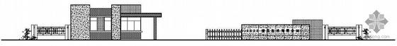 某厂区一层门卫值班室建筑施工图
