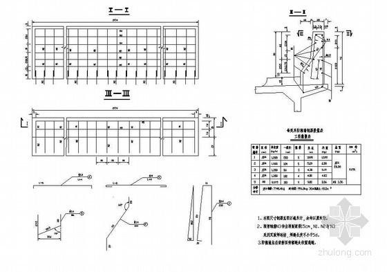 7x20m预应力混凝土空心板防撞墙构造节点详图设计