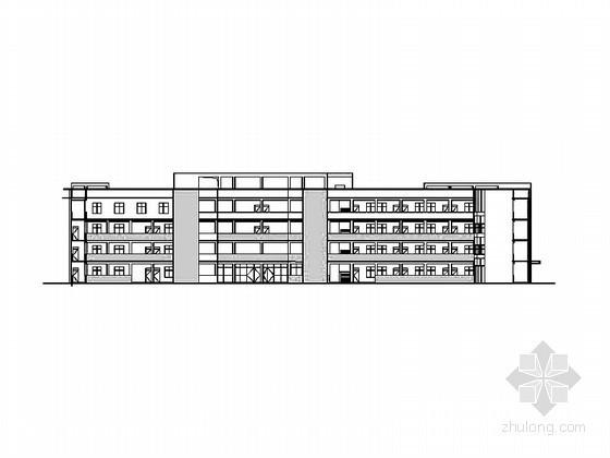 某中学四层办公楼建筑扩初图