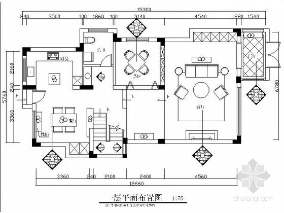 精品清新简约北欧风格两层小别墅室内设计装修施工图(含效果)