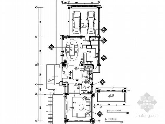 [成都]北美风格三层别墅样板间室内装修图(含方案文本)