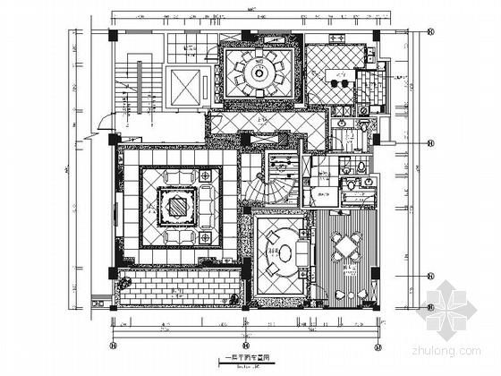 [福建]精品欧式风格别墅室内装修施工图