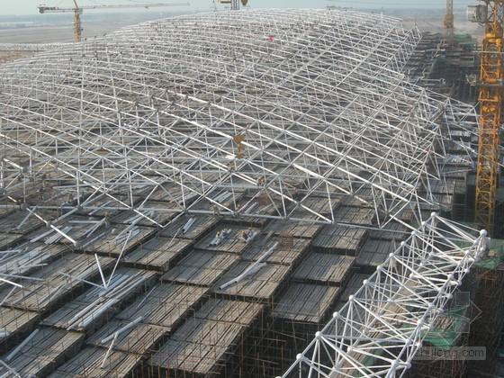 [河北]火车站雨棚及站房工程钢结构安装示意图