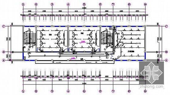 [安徽]教学楼建筑及安装工程量清单计价实例(附图纸及软件文件)-二层照明平面图