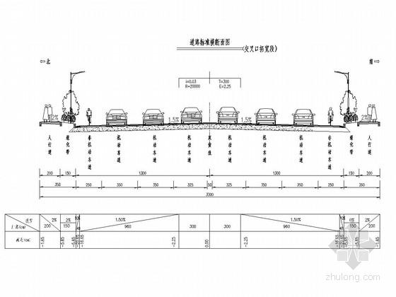 [湖南]火车站片区城市次干道工程全套施工图(105张 道路 排水 交通设施 绿化照明)