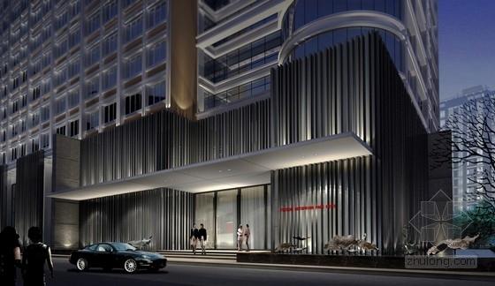 [福建]四星级现代温泉酒店室内装修设计方案外观效果图