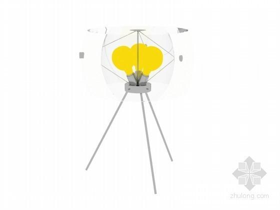 简单落地灯3D模型下载