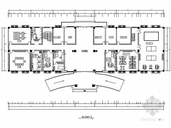 [江苏]某现代风格部队办公楼室内装修施工图(含效果)