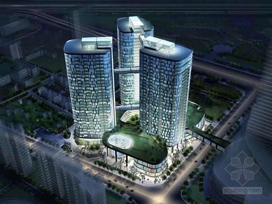 [上海]现代简约风格公寓式裙楼酒店建筑设计方案文本(含101张图纸 731间客房)