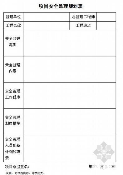 [江苏]发电设备工程安全监理技术台账