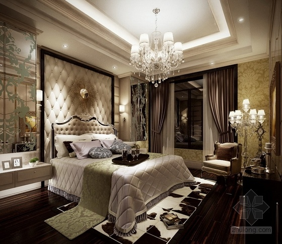 [温州]低调奢华欧式风格四居室样板间装修图(含效果)餐厅效果图