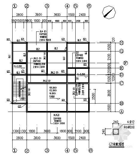 农村别墅建筑结构施工图