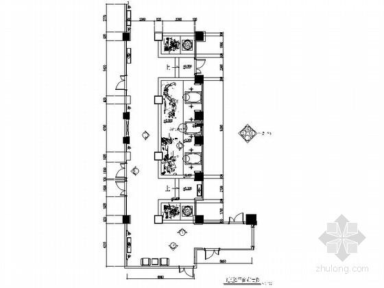 商务会所水景装饰过道室内装修图