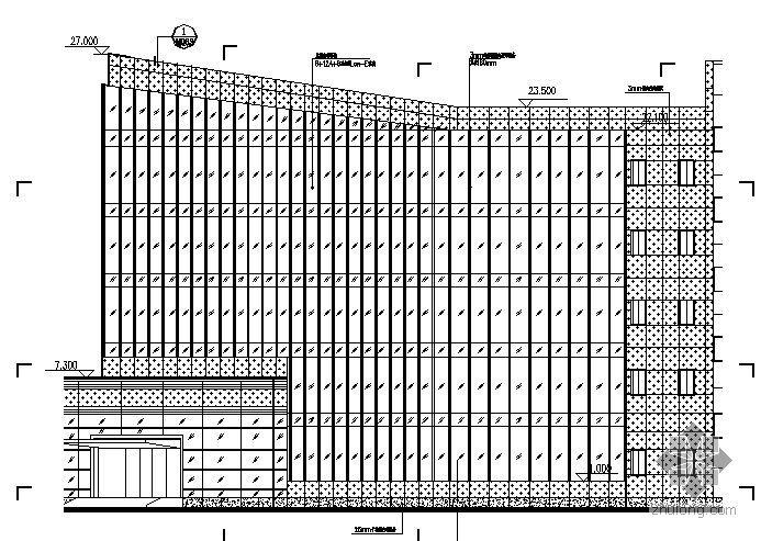 安徽某电信综合楼幕墙设计施工图