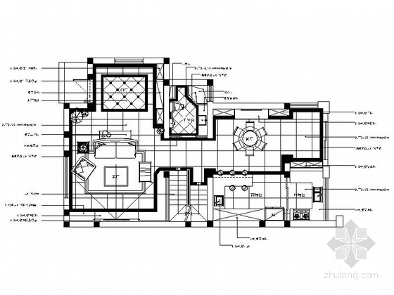 [上海]欧式尊享四层别墅施工图
