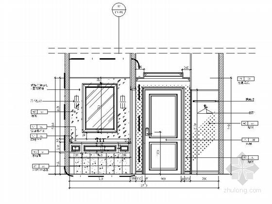 [苏州]工业园区现代商务酒店客房部分室内施工图(含效果图) 立面图