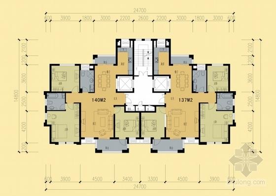 新中式高层住宅小区规划平面图