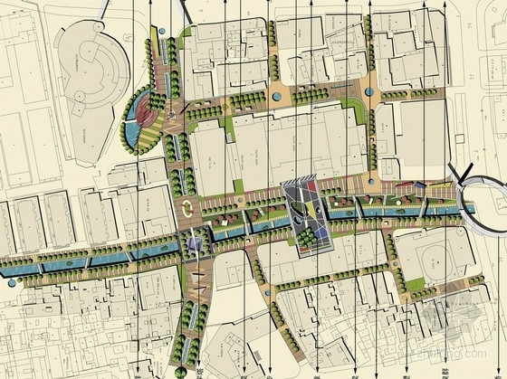 [苏州]商业步行街景观规划设计方案