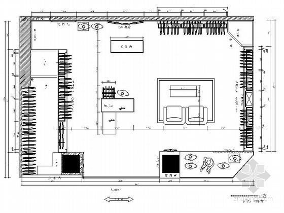 [云南]时尚女装专卖店室内设计施工图(含效果和实景)