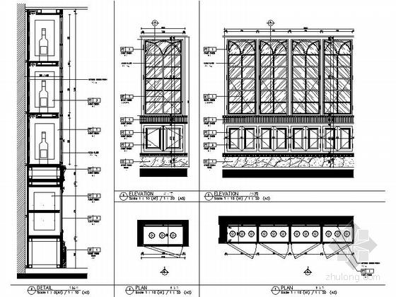 [南通]奢华五星级酒店美国厅贵宾室CAD装修图大样图