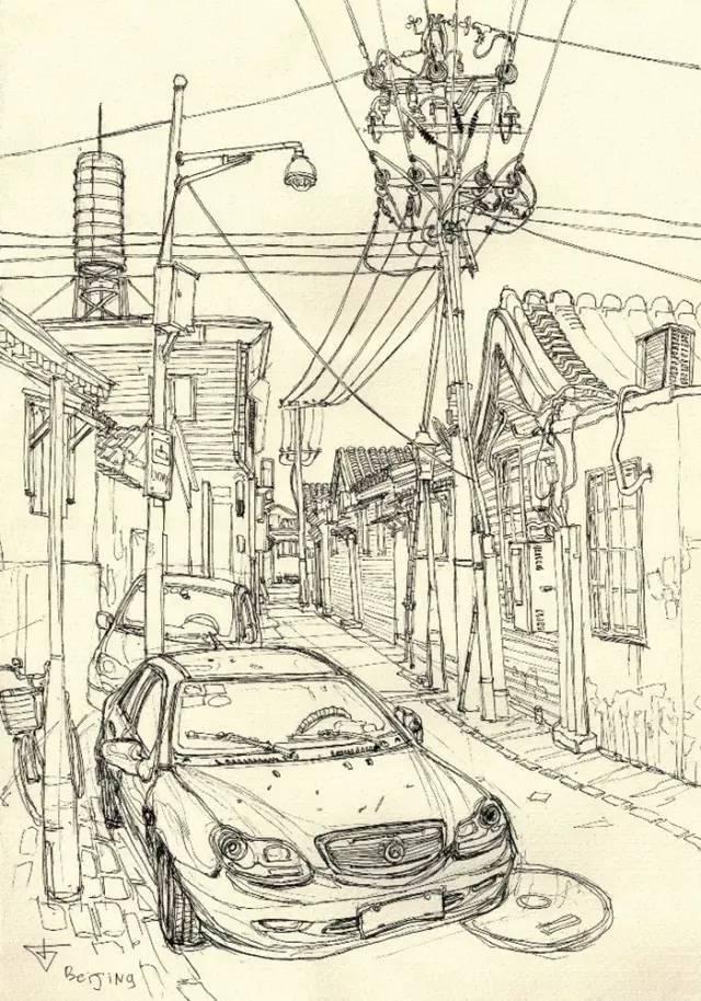 建筑手绘,国外设计师画的就是好看!_30