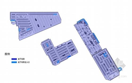 [内蒙古]地下空间商业建筑概念设计方案文本-地下空间商业建筑各层平面图