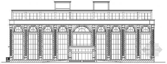 某市欧式四层办公楼建筑方案图