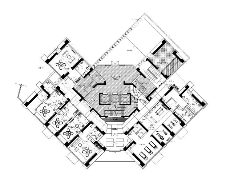 CCD-华润城润府润府一期7-8号楼会所CAD平面图+设计方案+效果图