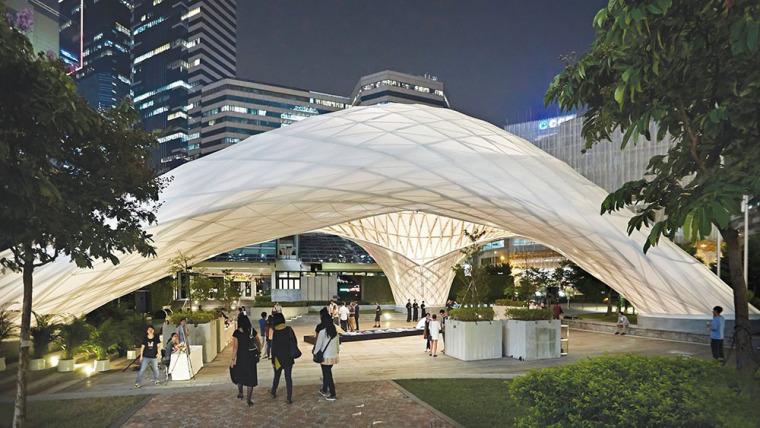 ZBC竹子拱形的展馆