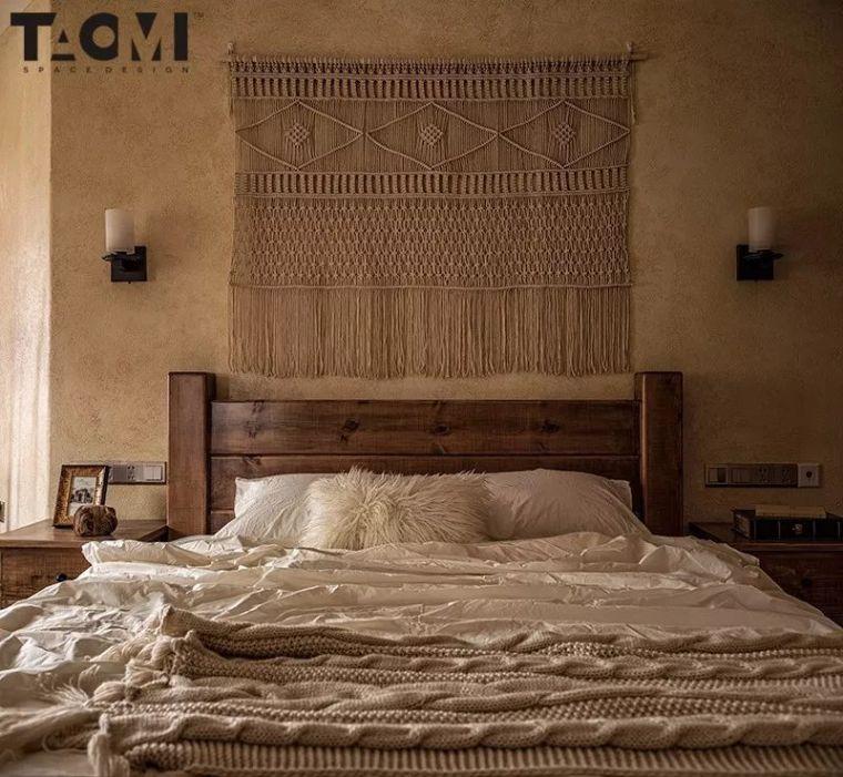 卧室背景墙别放空,这样设计美极了!_15