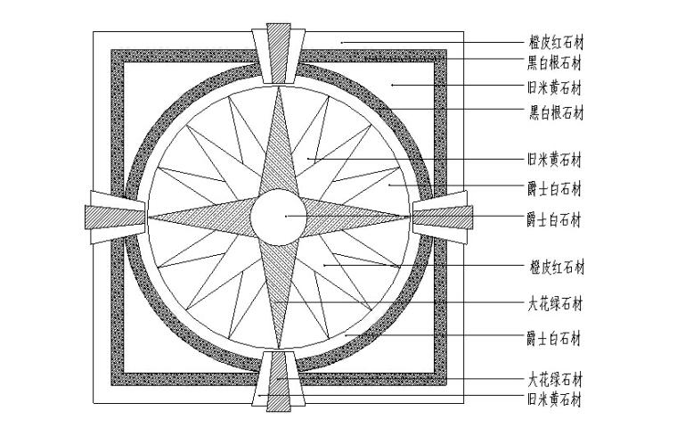 CAD常用图块平面图资料下载-CAD室内设计施工图常用图块之地面