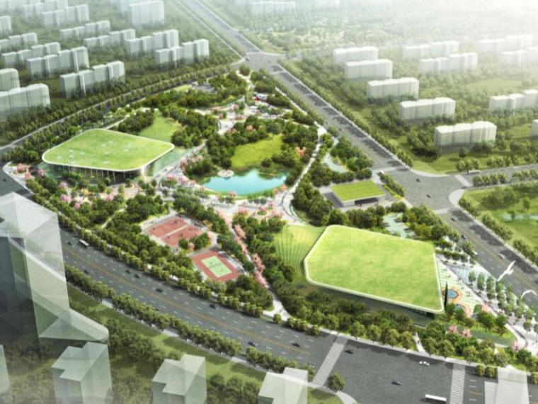 [天津]张家窝镇中心生态公园方案设计(屋顶花园,生态自然)