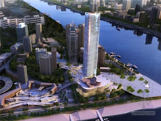 [重庆]超高层高档办公及线型商业建筑设计方案文本