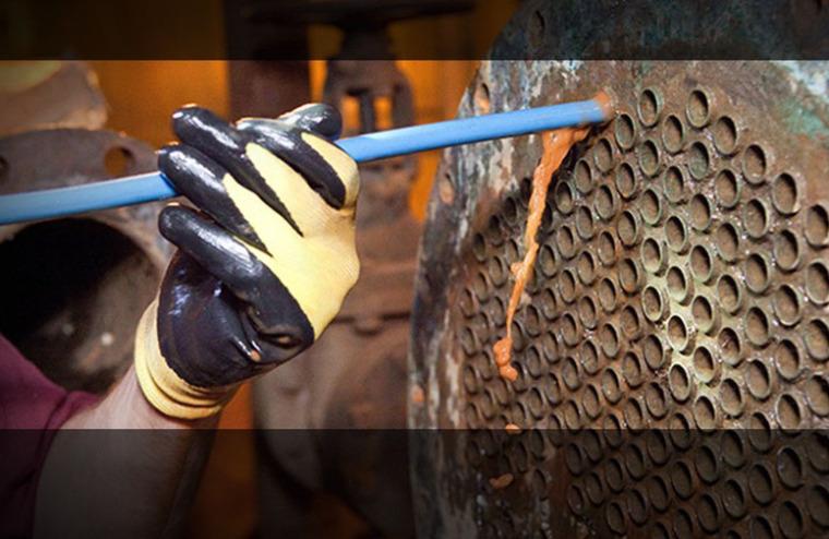 全自动管刷在线清洗是壳管式冷凝器/换热器防垢除垢的有效手段