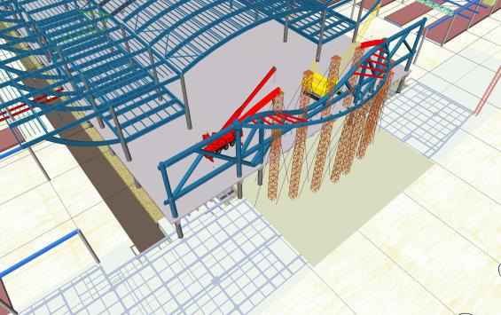 """悬挑大跨度弧形""""水滴""""状钢结构施工技术"""