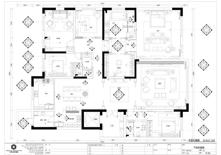 简约风格样板房施工图+高清效果图(超专业)