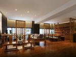 中式黄木家具会客区3D模型
