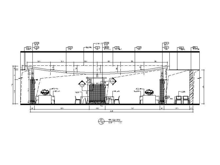 现代风格餐厅设计CAD施工(含效果图)立面图