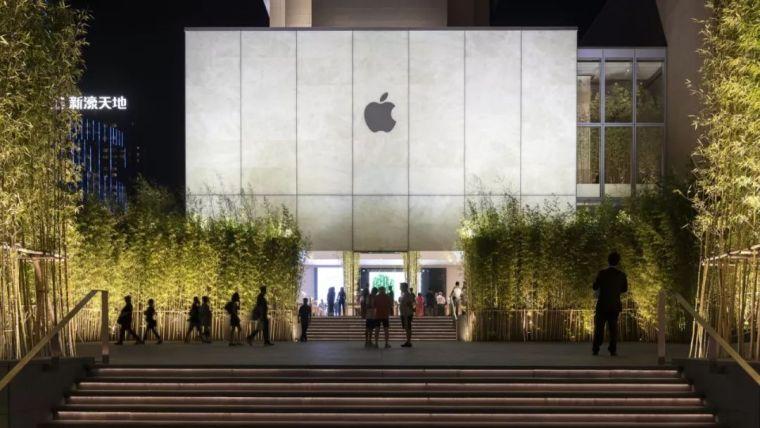 福斯特打造澳门苹果店,把一片竹林'绿洲'带到闹市中