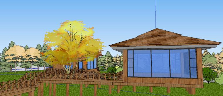 小亭子庭院景观设计模型-场景一