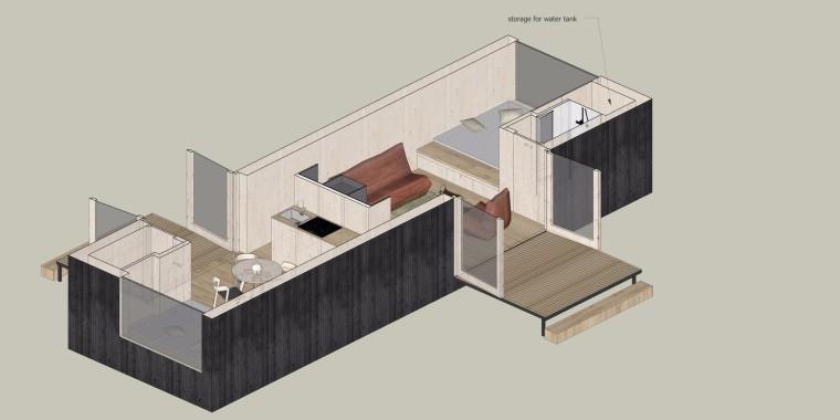 比利时移动灵活的生态小木屋-9