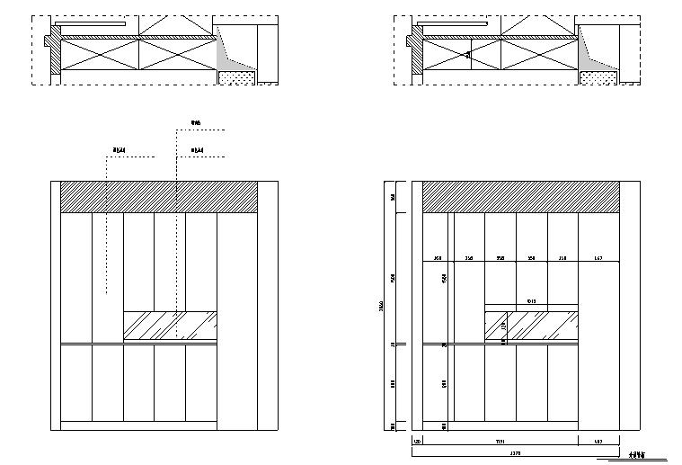 【湖北】现代偏港式样板房设计施工图(附效果图)_5