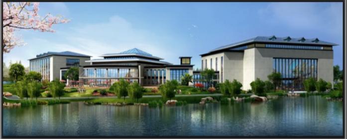 苏州温泉度假酒店内装修设计方案文本-酒店西侧外观效果图