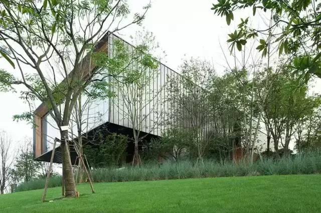 长沙森林中的万科金域滨江会所
