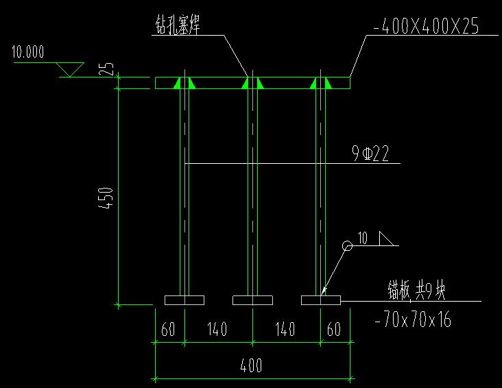 中学游泳馆屋面网架施工图(梯形网架周边变厚度)_3