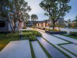 创意铺装设计,草坪和硬质材料之间有无限可能