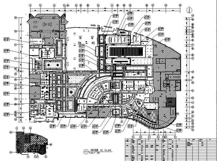 12600平方米酒店空间设计施工图(附效果图)_5