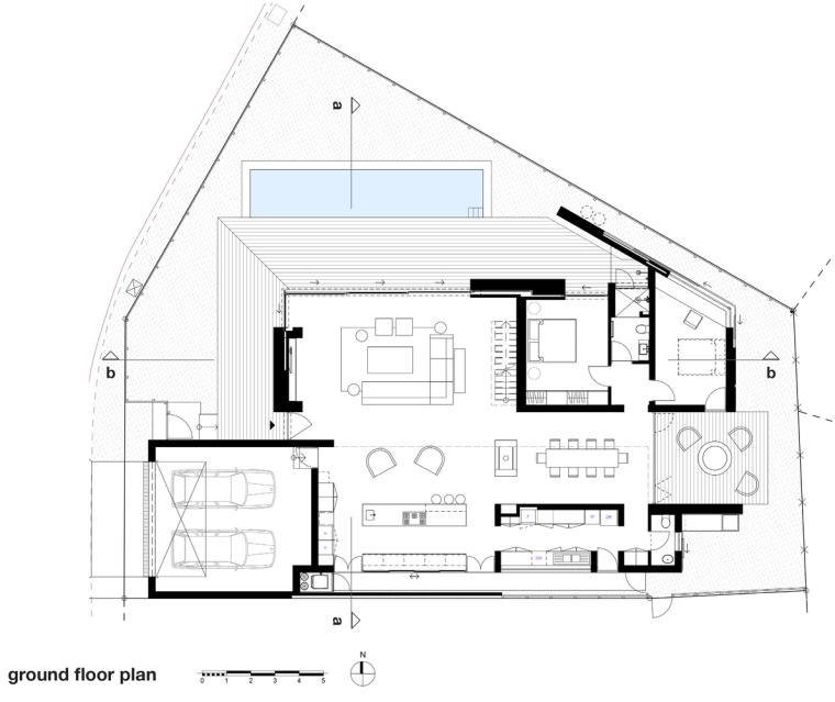 南非海岸线传统的独户家庭住宅-15